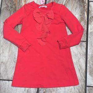 Dark Coral H&M Girls Dress With Ruffle